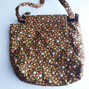Vintage Retro Brown Calico Purse